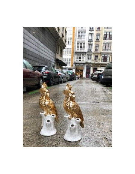 Floreros  porcelana Cacatúa