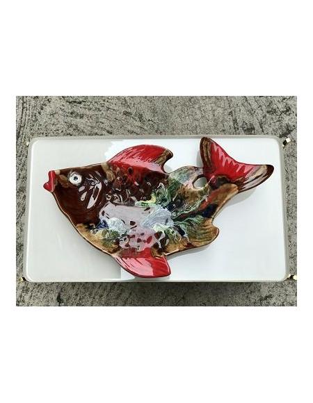 Fuente francesa de cerámica vidriada