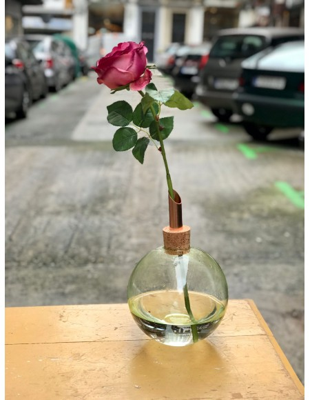 Florero de cristal
