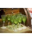 Copas de vino de cristal de Bohemia