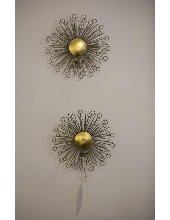 Candeleros en aluminio dorado