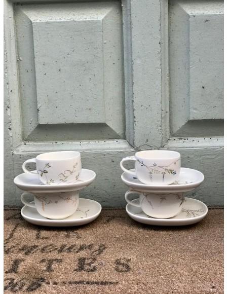 Tazas de desayuno/merienda de porcelana