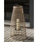 Linterna con asa de bambú