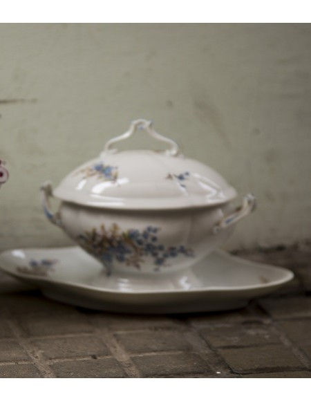 Salsera de porcelana francesa