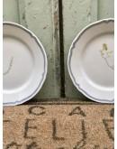 Platos de postre/merienda de porcelana francesa