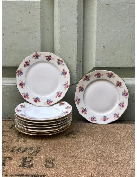 Platos de merienda/postre de porcelana francesa
