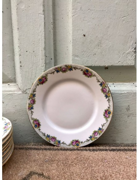 Platos de porcelana francesa de Limoges de postre o merienda
