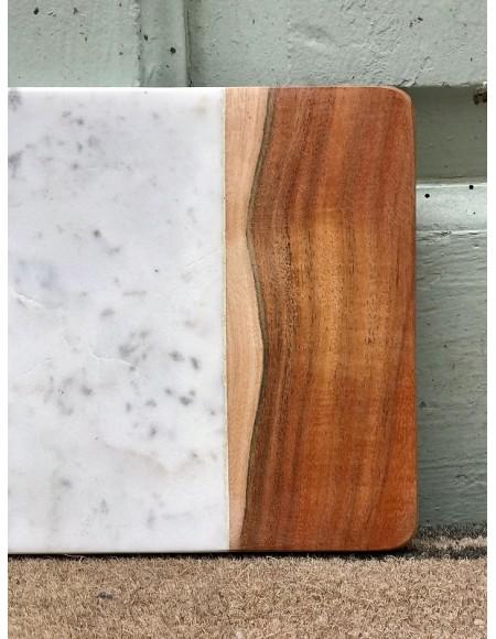 Tablas de cocina de mármol y madera