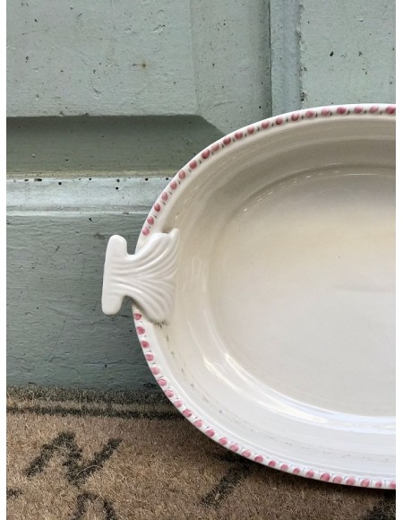 Fuente de porcelana francesa pintada a mano