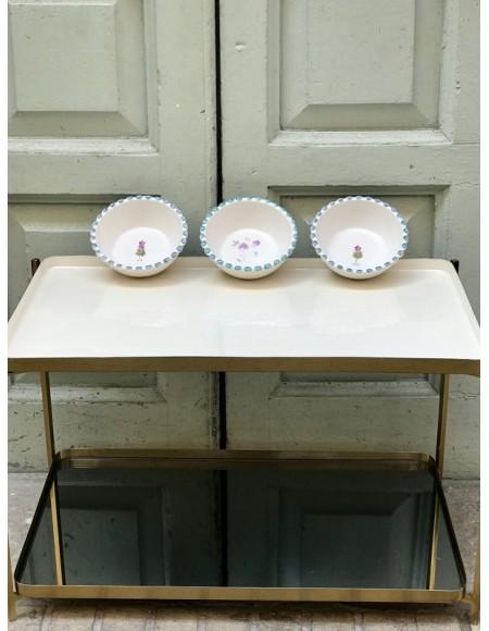 Cuencos de porcelana francesa