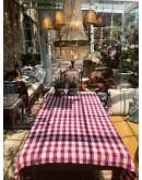 Mantel artesanal de algodón y lino mallorquín