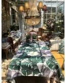 """Mantel de algodón 100% con estampado floral """"monstera""""."""