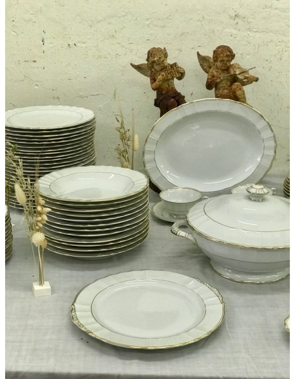 Vajilla de porcelana francesa marcada B and Lº France Limoges