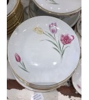 Vajilla de porcelana Alemana, Bavania con decoración de tulipanes, años 70