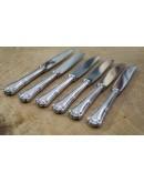 Juego de cuchillos de postre de plata Ercuis